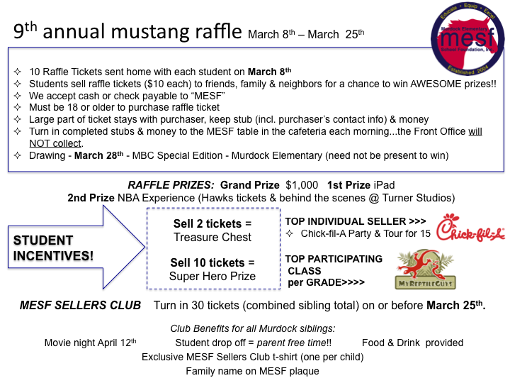 Mustang Raffle – MESF: Murdock Elementary School Foundation Inc
